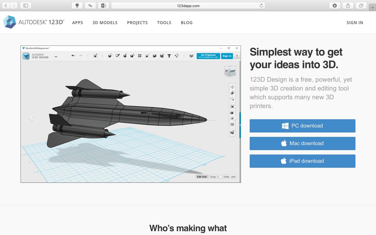 123D Design 3D繪圖軟體教學(一)